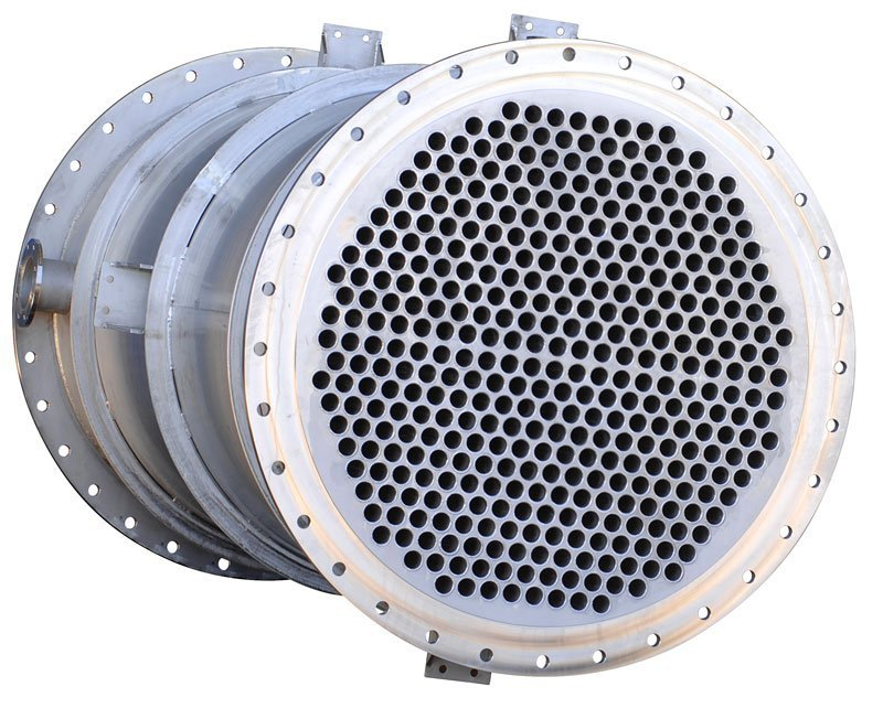 Dimpleflo-Shell-&-Tube-Econmiser-with-316-stainless-steel-dimpled-inner-heat-exchanger-pipes