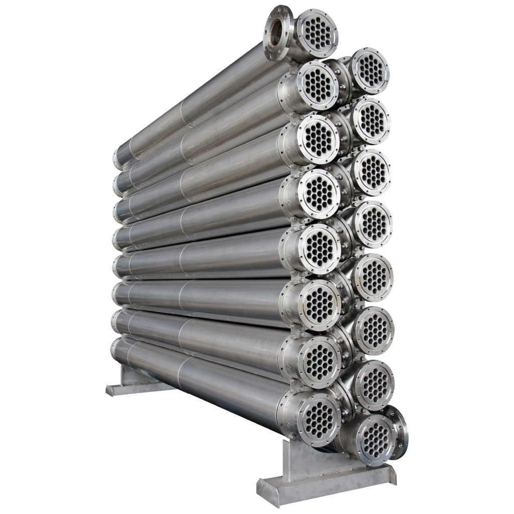 Dimpleflo Shell & Tube for processing hot oil