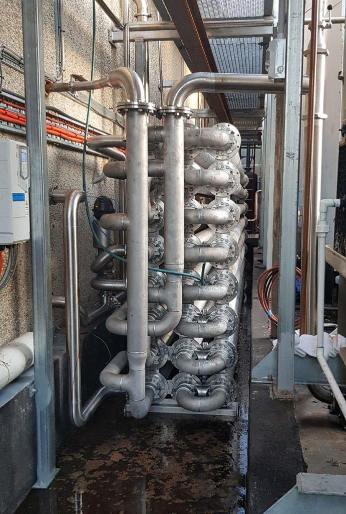Dimpleflo Triple-tube-heat-exchanger-cooling desert toppings