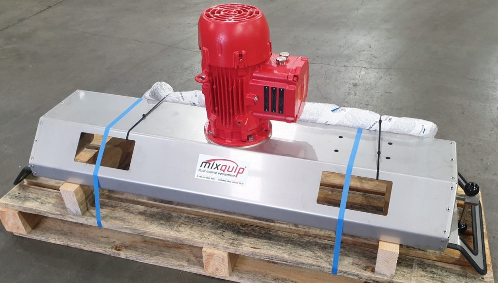 Series 200 IBC Mixer with EXD drive -Safe for mixing flammable liquids