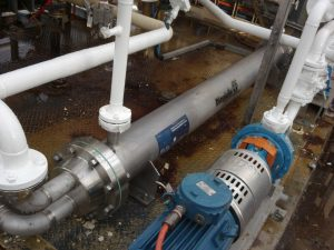 Industrial Heat Exchanger Using Jet Fuel To Cool Glycol - Dimpleflo Heat Exchanger